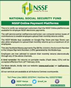 NSSF Online Payment Platform