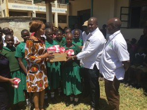 Kotetni Primary School shoes presentation