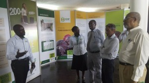 MOMBASA International Show Mombasa NSSF Branch Manager Wilson Ngare takes the judges through the NSSF Stand