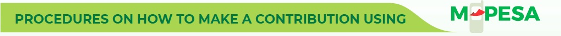 How to Contribute Using MPESA