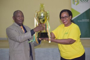 Handing over of the Trophy ceremony at the Music Festivals