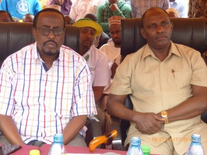The Labour Ministry team led by Amb. Ukur Yatani at the Wajir outreach programme.